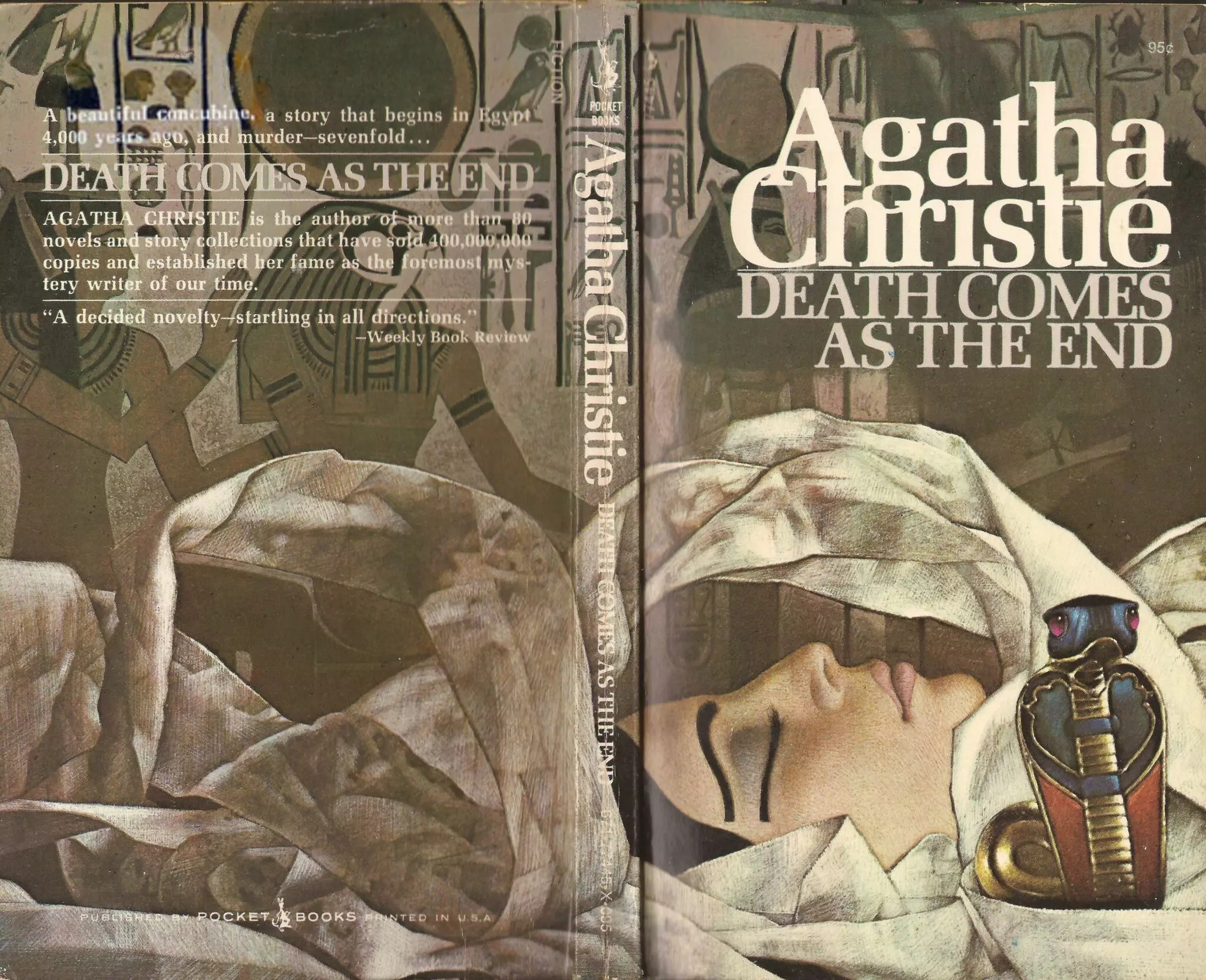 Agatha Christie Tom Adams Death Comes as the End Pocket Books 3