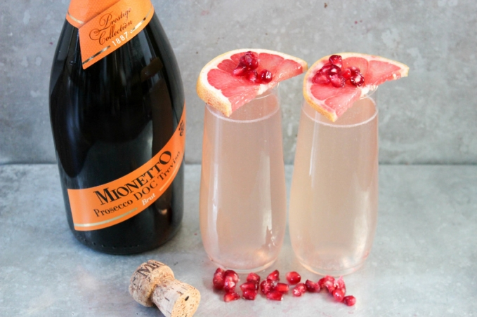 , Pomegranate and Grapefruit Prosecco Sparkler