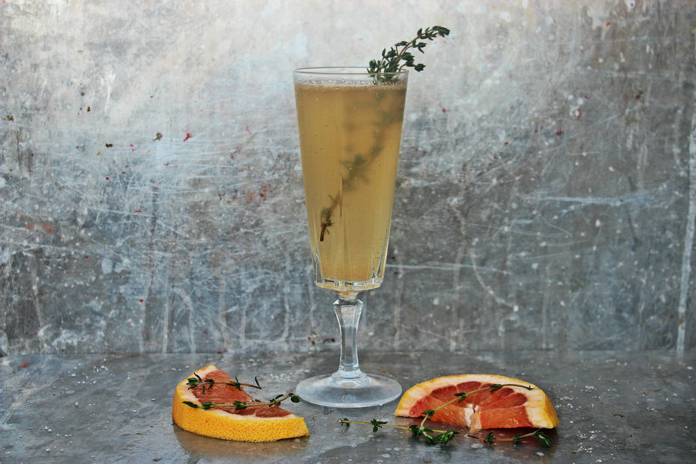 , St. Germain and Grapefruit Sparkler