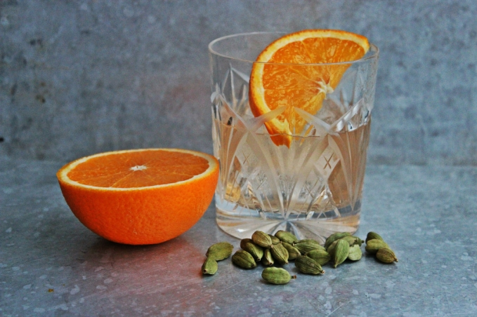 , Cardamom and Blood Orange Vodka Old Fashioned
