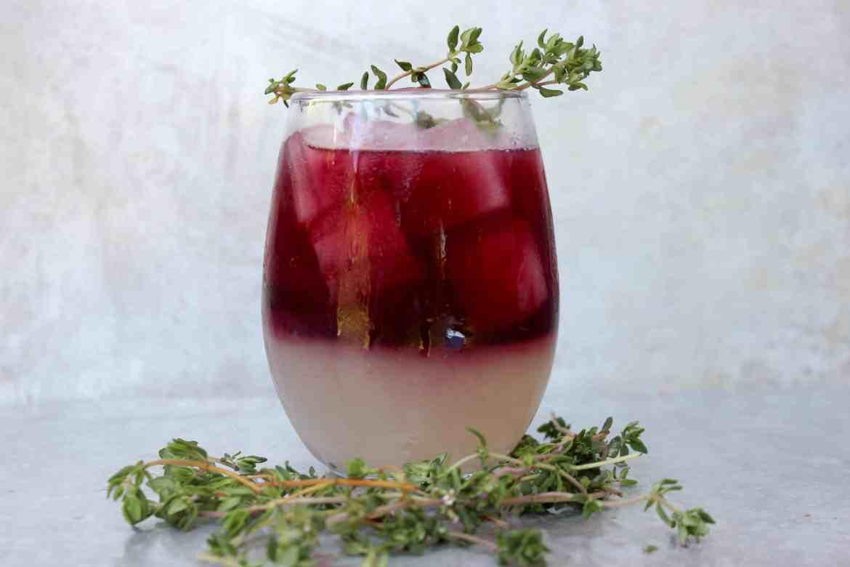, Gin Lambrusco Cocktail