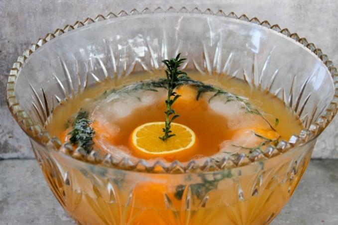 , Orange Bourbon Punch