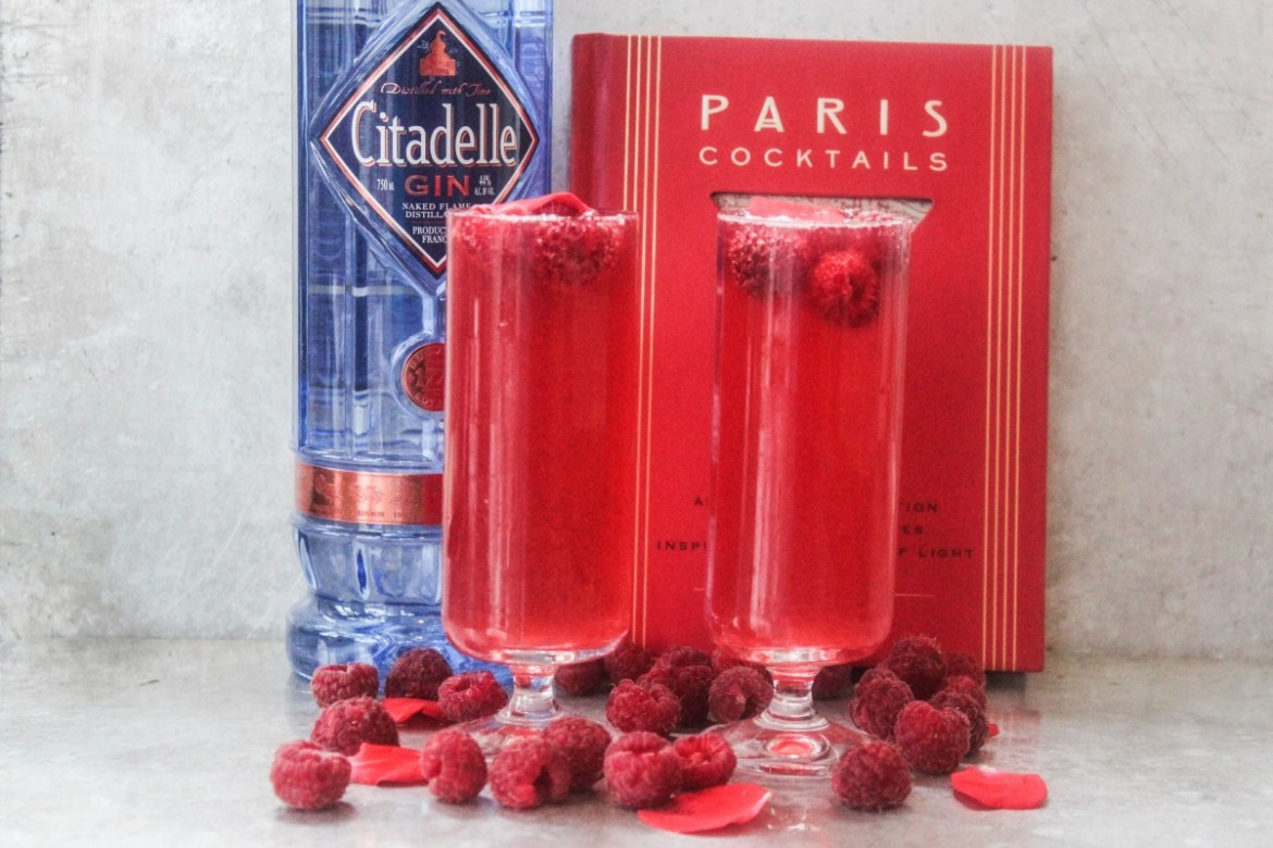 , Raspberry and Rosé French 75