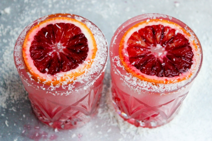 , Coconut Water and Blood Orange Margarita