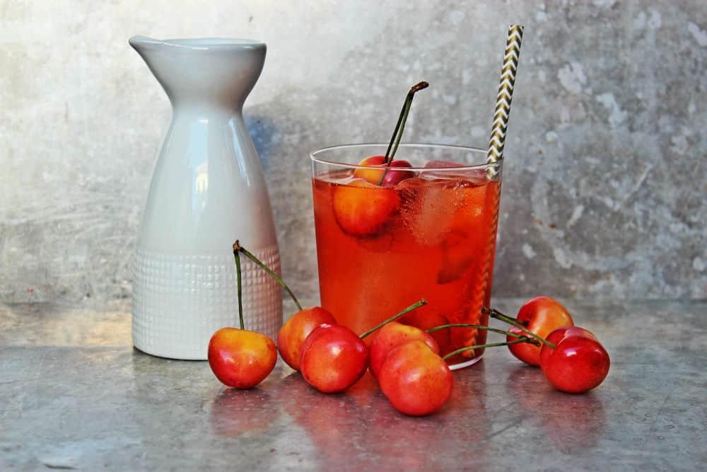 , Rainier Cherry Sake Refesher