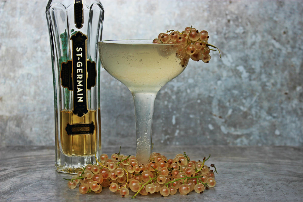 , St-Germain and Currant Sparkler