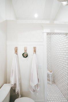 Master Bathroom Shower Hooks