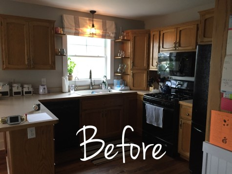 Before photo country kitchen renovation