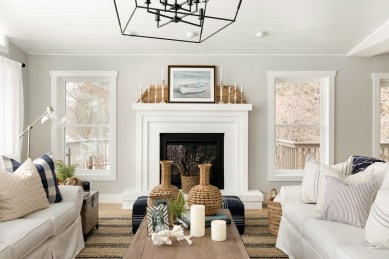 Hamptons Style Living Room Renovation in Orono, Minnesota by Beautiful Chaos™