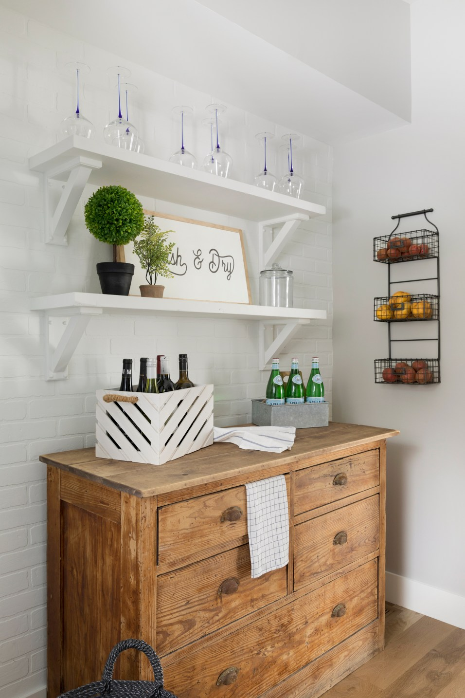 Lake Home Hamptons Style Laundry Room and Pantry