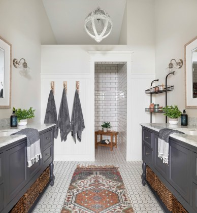 farmhouse shower tile