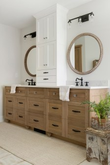 master bathroom vanity and mirrors