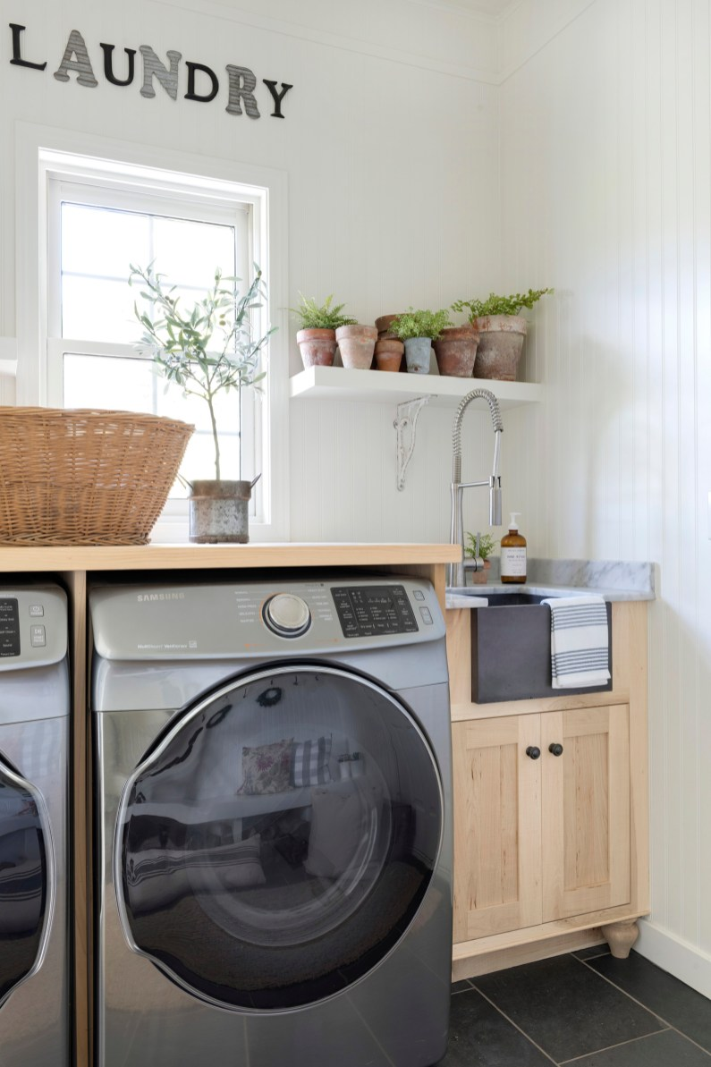 white farmhouse laundry room ideas