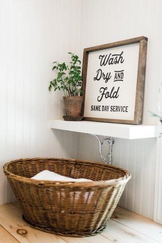 Farmhouse Laundry Room Decor