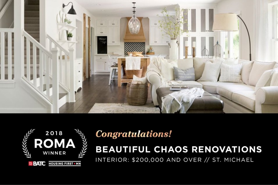 ROMA award winner for our Modern French Country project!