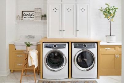 Yellow Laundry Room Inspiration
