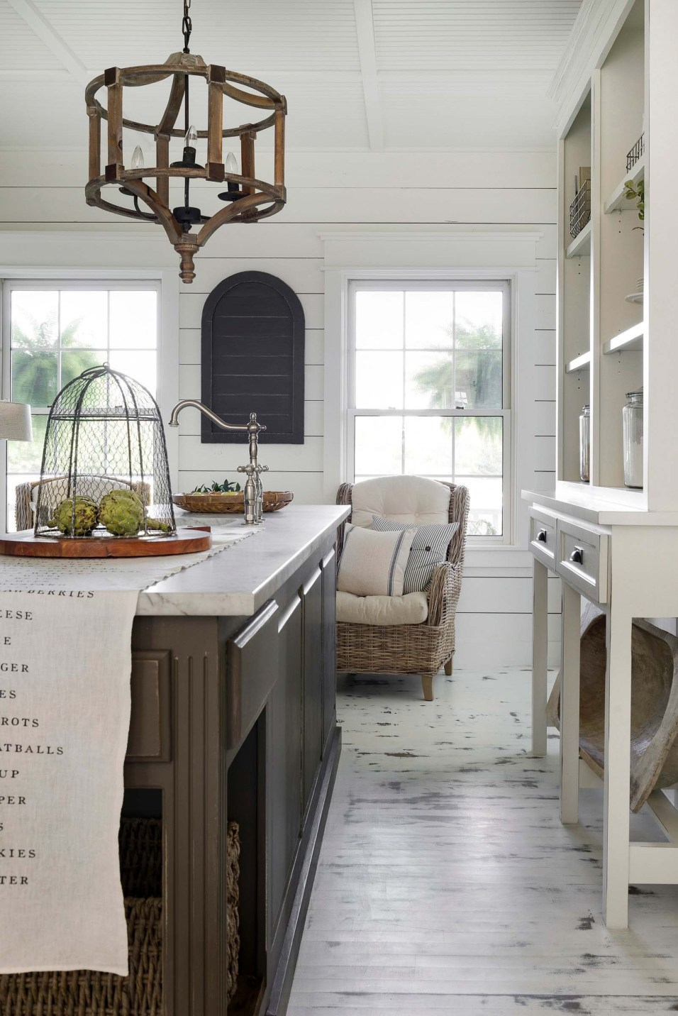 Beautiful Chaos Farmhouse Kitchen with Salvaged Furniture