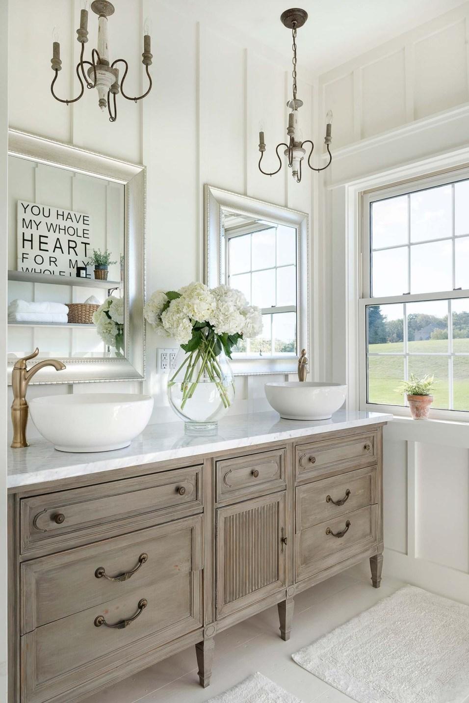 Beautiful Chaos Farmhouse Master Bathroom
