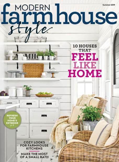 Modern Farmhouse Style Magazine Cover Summer 2019