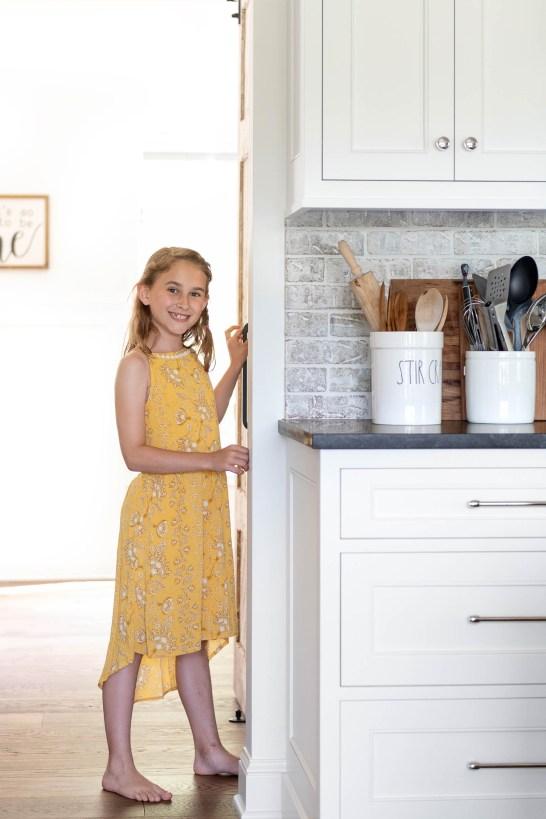 Daughter in New Modern Kitchen Renovaiton