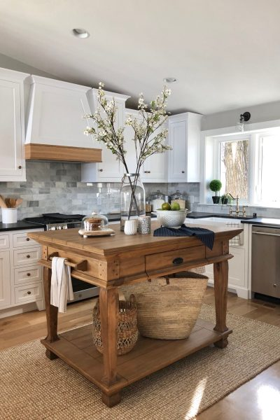 Lake home kitchen design