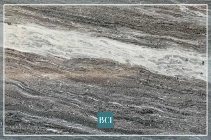 Photo of Fantasy Brown marble countertop material.