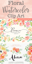 watercolor floral clip project clipart graphics designs gorgeous check them these beautifuldawndesigns dawn