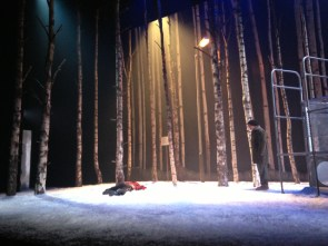 Hakan on stage at Dundee Rep