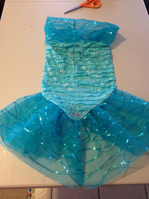 Girl -pattern Mermaid Costume Easy And Beautiful