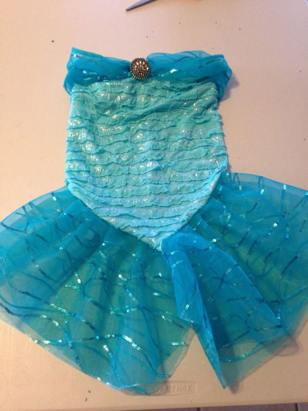 Girl -pattern Mermaid Costume Easy And Beautiful