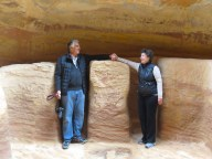 A Venezuelan couple demonstrate marriage rituals of ancient Petra - by Anika Mikkelson - Miss Maps - www.MissMaps.com