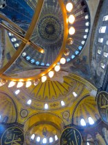 The Hagia Sophia's glowing ceiling - Istanbul Turkey - by Anika Mikkelson - Miss Maps