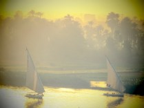 Sailing on the Nile River - Luxor Egypt - February 2015