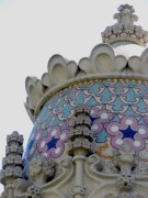 Up Close at one of Gaudi's eclectic creations - a rooftop of Barcelona, Spain - by Anika Mikkelson - Miss Maps