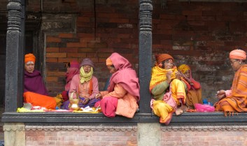 Women near the Pashupati Temples - Kathmandu, Nepal - By Anika Mikkelson - Miss Maps