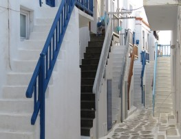Repetitive Stairs - Mykonos, Greece - April 2015 - by Anika Mikkelson - Miss Maps