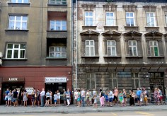 Lines for Lody in Krakow - Read more at www.beautifulfillment.com