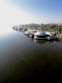 Danube River Boat Houses - Belgrade, Serbia