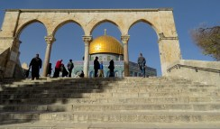 Approaching Jerusalem's Temple Mount 3 minutes before closing time - by Anika Mikkelson - Miss Maps - www.MissMaps.com