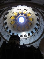 Dome inside Old City Jerusalem's Church of the Holy Sepulchre - by Anika Mikkelson - Miss Maps - www.MissMaps.com