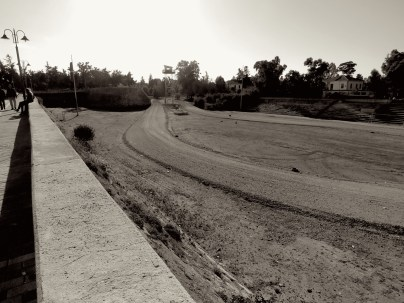 The Buffer Zone of Nicosia, Cyprus looks more like a Track field than war zone - by Anika Mikkelson - Miss Maps - www.MissMaps.com