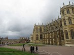 As soon as everyone entered, the storm appeared atSt. George's Chapel at Windsor Castle - Windsor, London, UK - Easter Sunday 2016 - by Anika Mikkelson - Miss Maps - www.MissMaps.com