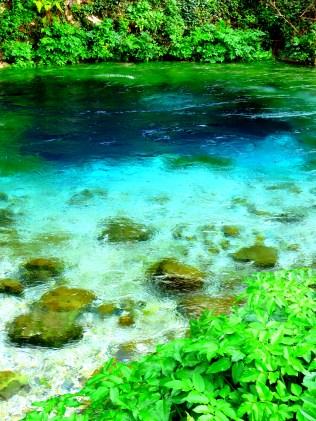 Blue Eye - A lake with an unreachable depth south of Gjirokaster Albania- by Anika Mikkelson - Miss Maps - www.MissMaps.com