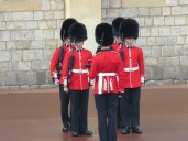 Guards at St. George's Cathedral at Windsor Palace - Windsor, London, UK - by Anika Mikkelson - Miss Maps - www.MissMaps.com