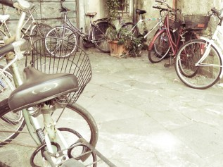 Bicycles - Lucca Italy - by Anika Mikkelson - Miss Maps - www.MissMaps.com