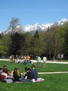 Perfect Place for a Picnic - Grenoble France - by Anika Mikkelson - Miss Maps - www.MissMaps.com