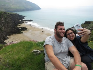 Selfies by the Bay of Western Ireland - by Anika Mikkelson - Miss Maps - www.MissMaps.com
