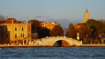 Sun Setting on the Waters of Venice Italy - by Anika Mikkelson - Miss Maps - www.MissMaps.com