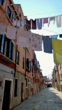 This may have been the day my obsession with Laundry Photography began - Venice Italy - by Anika Mikkelson - Miss Maps - www.MissMaps.com