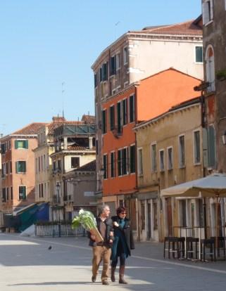 Walking with Lilies - Venice Italy - by Anika Mikkelson - Miss Maps - www.MissMaps.com